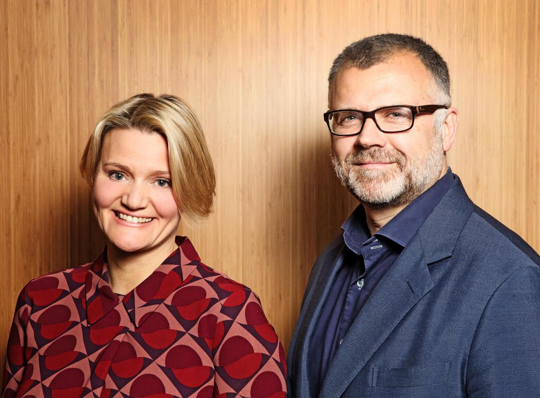 Portrait of Alison Hoad and Ben Fennell by Julian Hanford