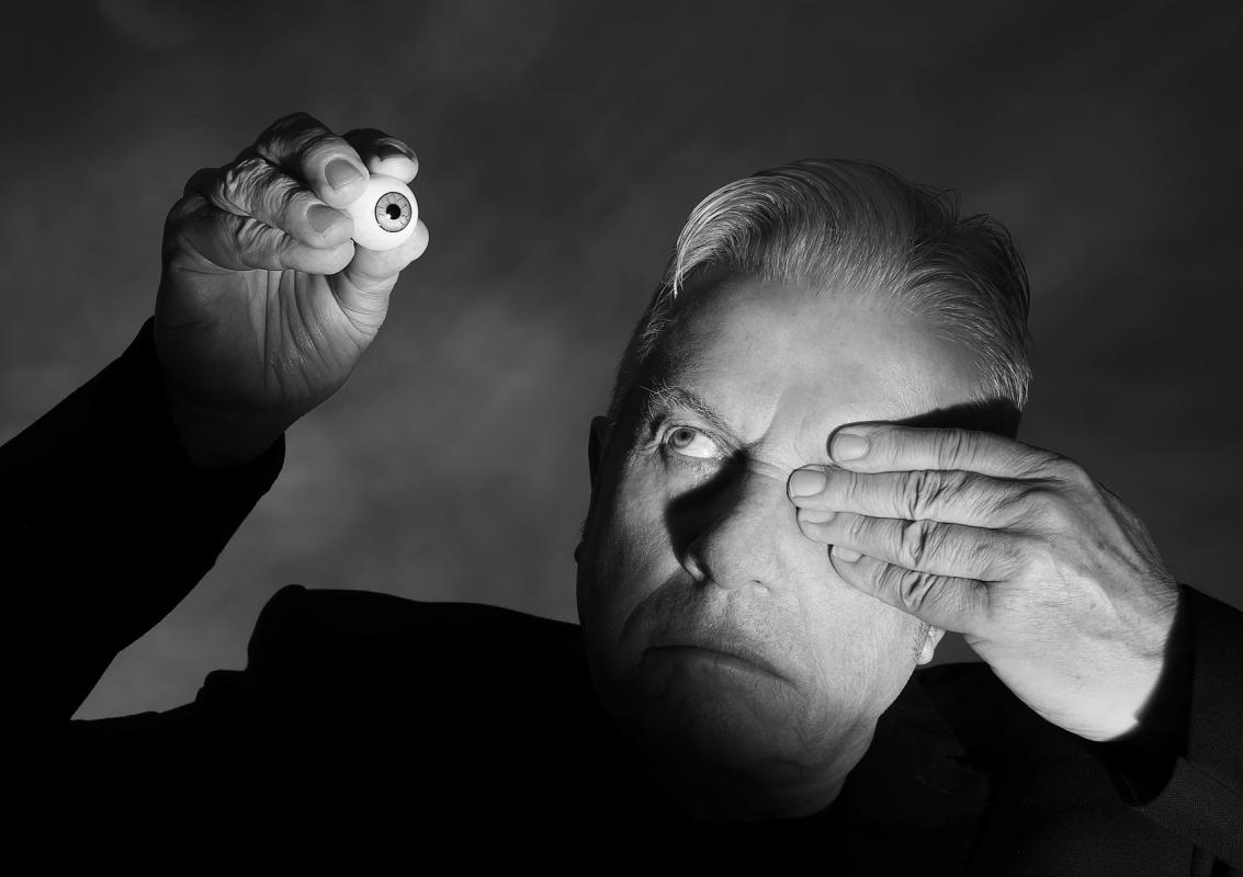 Portrait of Brian Griffin, Photographer by Julian Hanford