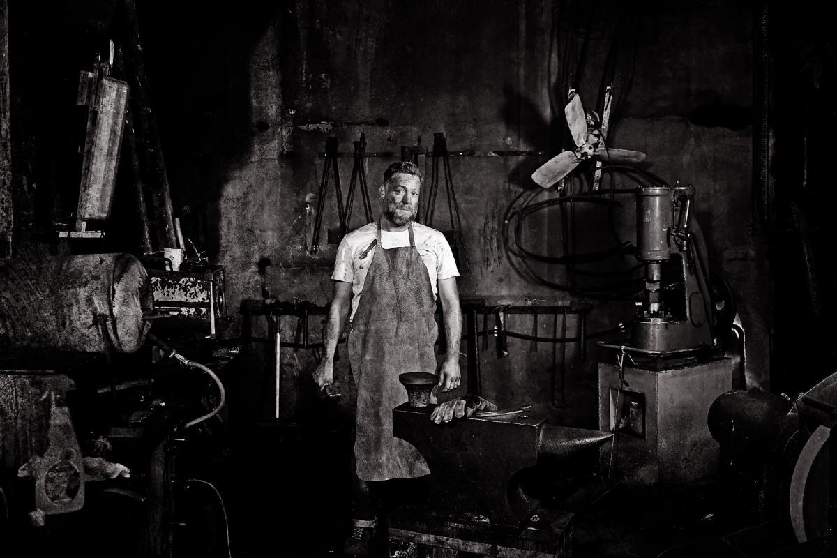 Portrait of Dave Monk by Julian Hanford