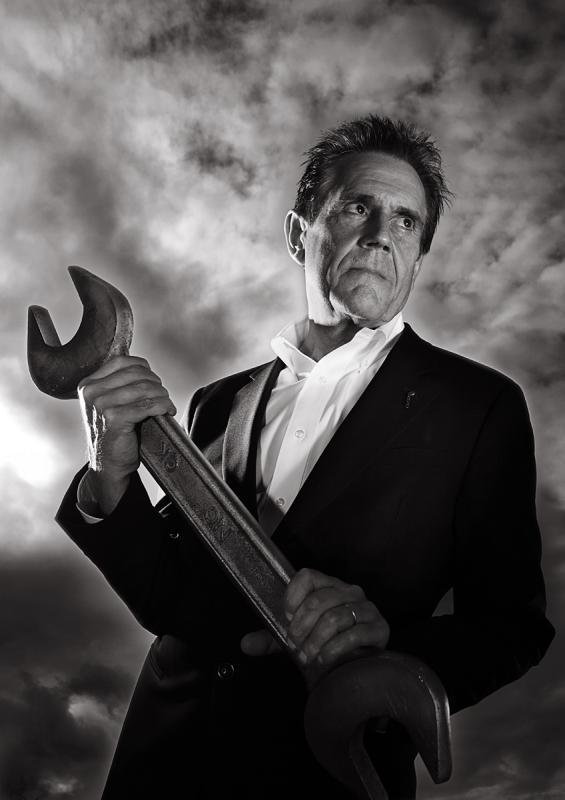 Portrait of Dave Trott by Julian Hanford