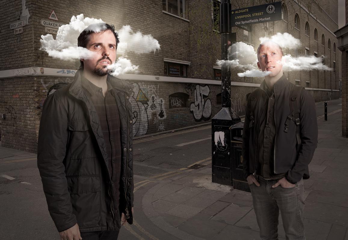 Portrait of Elias Torres & Dan Glover James by Julian Hanford