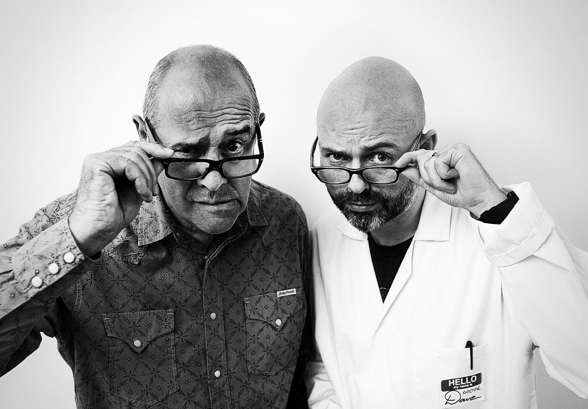 Portrait of John Jessup & Dave Birss by Julian Hanford