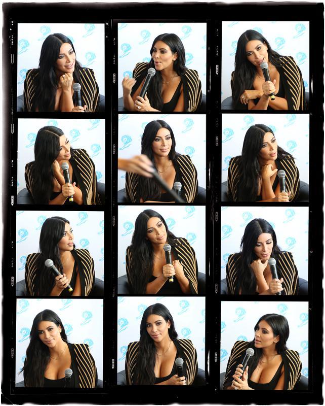 Portrait of Kim Kardashian by Julian Hanford