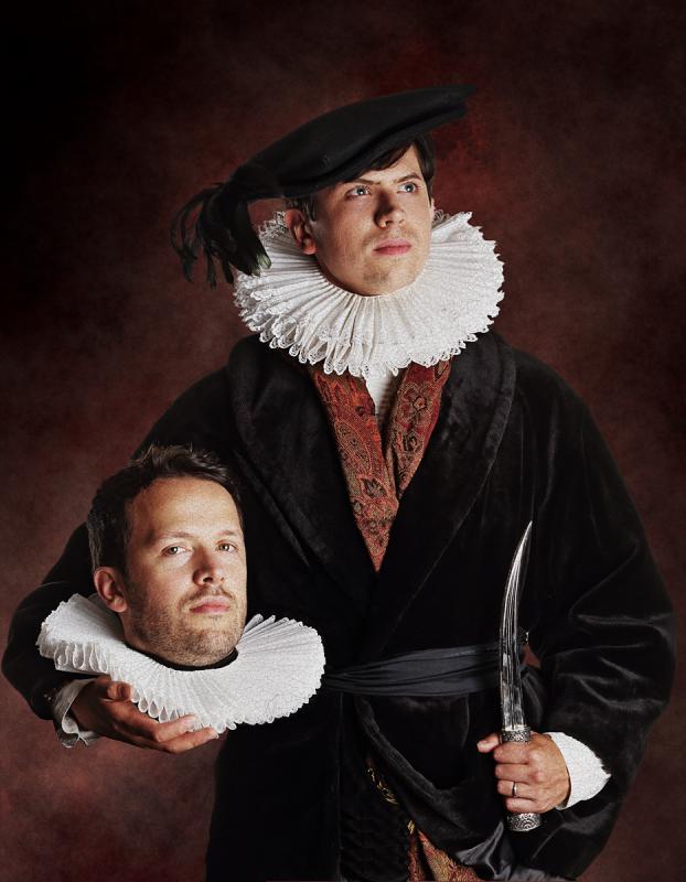 Portrait of Mikey Please & Dan Ojari by Julian Hanford