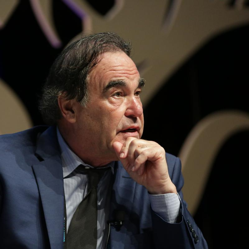 Portrait of Oliver Stone by Julian Hanford