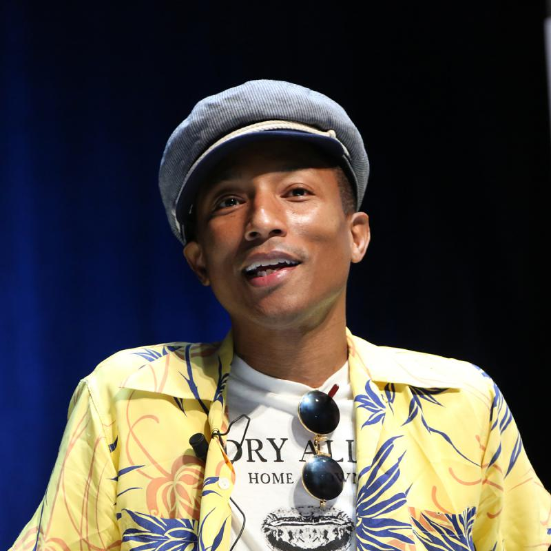 Portrait of Pharrell Williams by Julian Hanford
